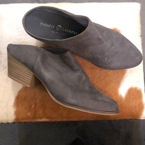 Chinese Laundry Grey Mule booties